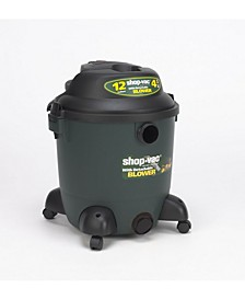 12 Gallon 4.5 Peak HP Blower Wet Dry Vacuum