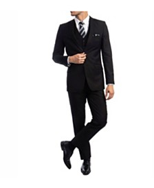 Azzuro Men's Slim Fit Notch Lapel Suit