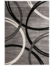 "Home Alba Alb377 Gray 5'3"" x 7'3"" Area Rug"