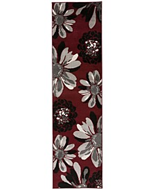 "Home Alba Alb374 Red 2' x 7'2"" Runner Rug"