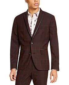 I.N.C. Men's Big & Tall Slim-Fit Windowpane Blazer, Created For Macy's