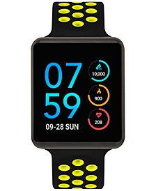 Unisex Air Black & Lime Silicone Strap Touchscreen Smart Watch 35x41mm, A Special Edition
