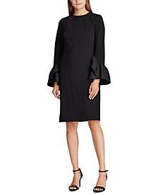 Ruffle-Sleeve Jersey Dress