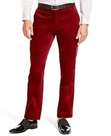 INC Men's Slim-Fit Velvet Pants, Created For Macy's