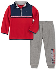 Baby Boys 2-Pc. Colorblocked Fleece Top & Jogger Pants Set