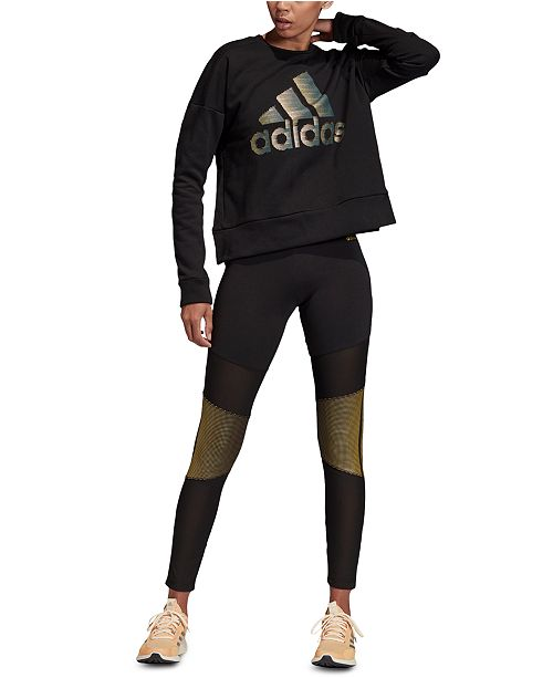 adidas Glam Logo Sweatshirt & Leggings