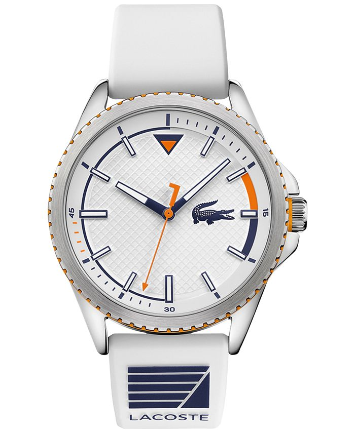 Lacoste - Men's Cap Marino White Silicone Strap Watch 44mm