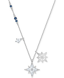 "Silver-Tone Crystal Star Pendant Necklace, 14-7/8"" + 2"" extender"