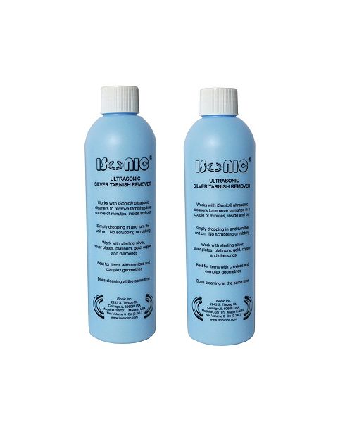 iSonic CSST01 Ultrasonic Silver-Tone Tarnish Remover, 2 Pack