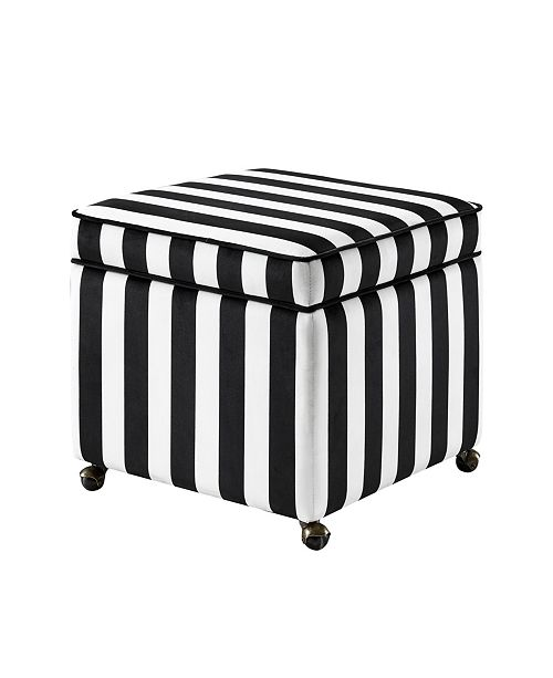 INSPIRED HOME Harrison Upholstered Storage Cube Ottoman