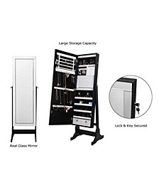 Radiant Jewelry Armoire Full Length Cheval Mirror