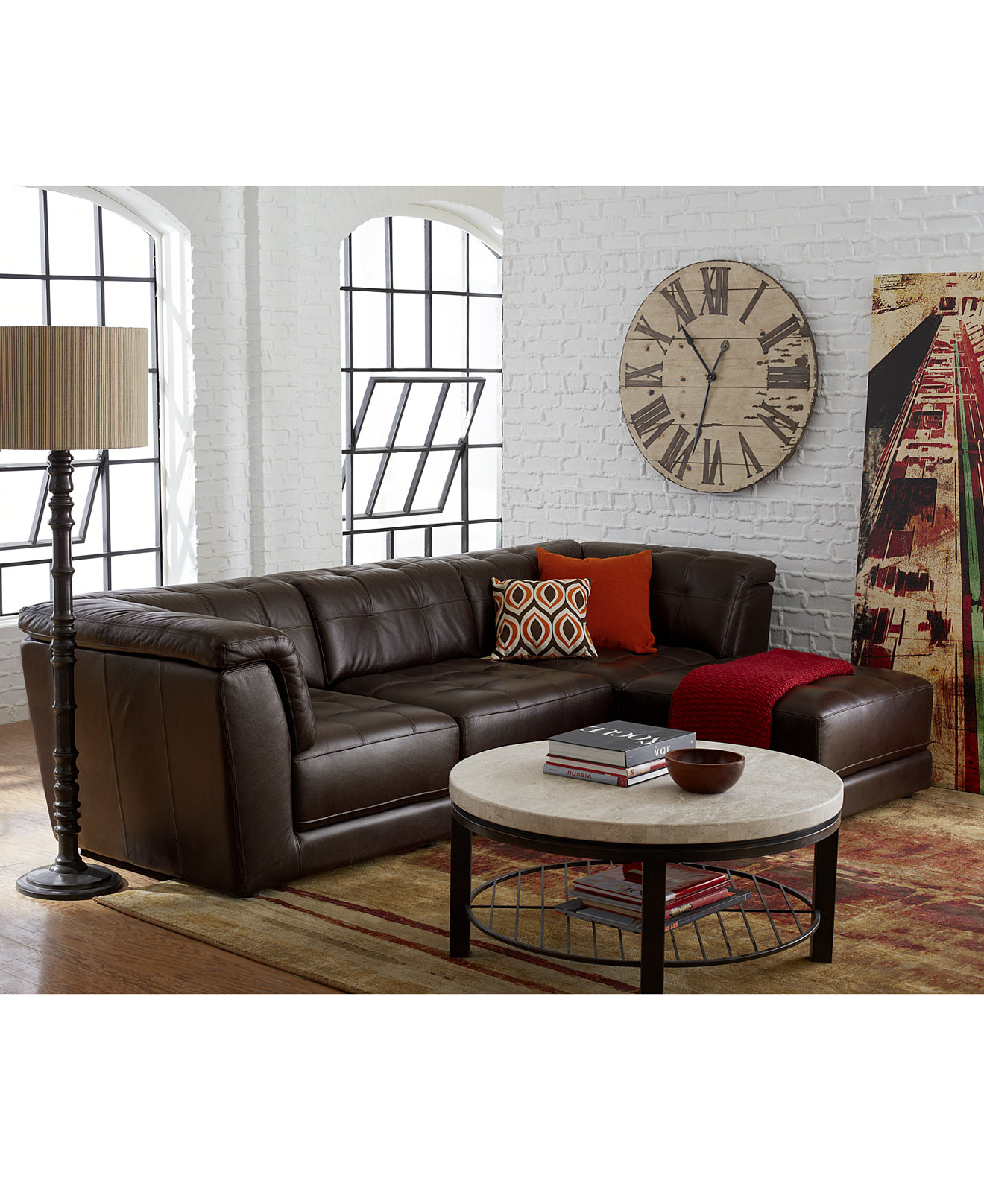 Leather living room furniture - Stacey Leather Modular Living Room Furniture Collection