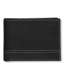 Portfolio Men's Premium Leather Sheridan Bifold Wallet