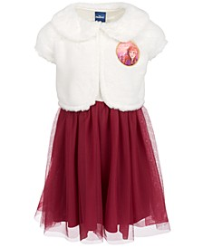 Toddler Girls 2-Pc. Frozen Anna Faux Fur Shrug & Dress Set