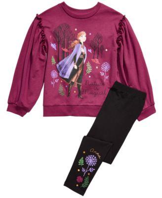 Disney Girls Frozen 2 Elsa and Anna Nature is Beautiful T-Shirt