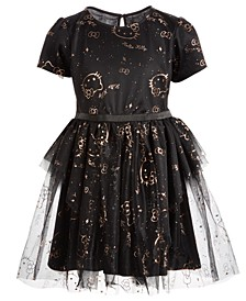 Little Girls Mesh Star Dress