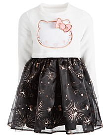 Toddler Girls Fleece & Twinkle Star Dress
