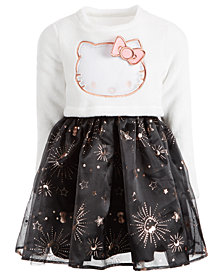 Hello Kitty Little Girls Fleece & Twinkle Star Dress