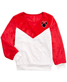 Disney Big Girls Minnie Mouse Colorblocked Sweatshirt