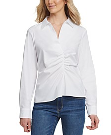 Cotton Ruched Blouse