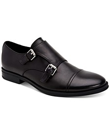 Men's Winthrope Crust Leather Double Monk Strap Shoes