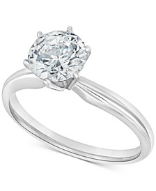 Diamond Solitaire Engagement Ring Collection in 14k White Gold