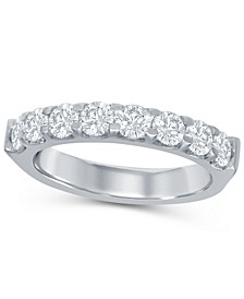 Round Diamond (1 ct. t.w.) Shared Prong Band in 14K White Gold