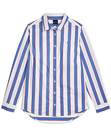 Women's Crusher Stripe Play Shirt with Magnetic Closures