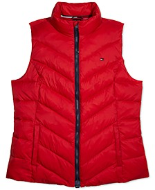 Women's Puffer Vest With Magnetic Zipper