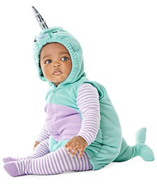 Baby Girls 3-Pc. Little Narwhal Costume
