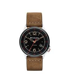 Men's Canyon Ridge Brown Leather Strap Watch 42mm