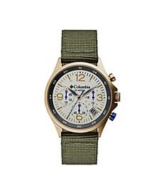 Men's Canyon Ridge Green Nylon Strap Chronograph Watch 42mm