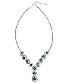 """Crystal & Stone Cluster Lariat Necklace, 17"""" + 3"""" extender, Created for Macy's"""