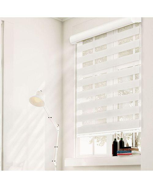 "Chicology Cordless Zebra Shades, Dual Layer Combi Window Blind, 27"" W x 72"" H"