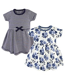 Toddler Girl Organic Cotton Dress, 2 Pack