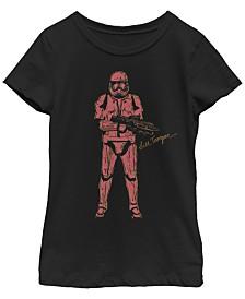 Star Wars Big Girls Rise of Skywalker Trooper Sketch T-Shirt