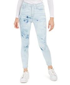 Juniors' Ripped Acid-Wash Skinny Ankle Jeans