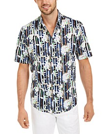 Men's Classic-Fit Abstract Floral-Stripe Shirt, Created For Macy's