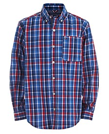 Big Boys Foster Stretch Plaid Shirt