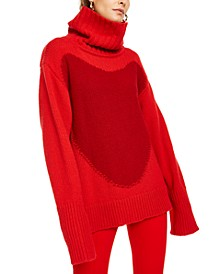 x Rita Ora Oversized Wool Turtleneck Sweater