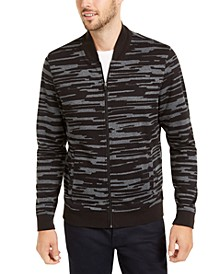 Men's Abstract-Print Bomber Jacket, Created For Macy's