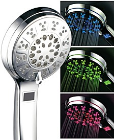 Hotel Spa 3 Color LED Hand Shower with Temperature Display