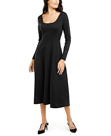 Fit & Flare Midi Dress, Created for Macy's