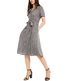 Tweed Belted Shirtdress