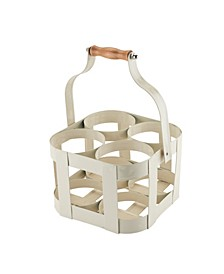 Rustic Farmhouse Vintage 4 Bottle Carrier