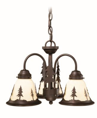 Vaxcel Yosemite 3 Light Rustic Tree Chandelier or Fan Light