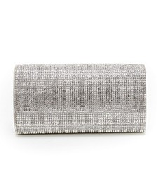 Rhinestone Fold Over Clutch