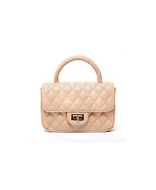Like Dreams Quilted Plush Handle Handbag