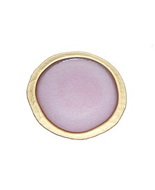 Blush Textured Charger Plate with Gold Tone Border