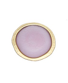 Classic Touch Blush Textured Charger Plate with Gold Tone Border